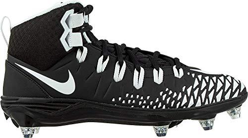 Nike Force Savage Pro D Men's Football Cleats Black/White/Black/Black Size 9.5