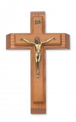 McVan Inc. Walnut Wood Sick Call Crucifix Set Religious Gift Decor, 12 Inch
