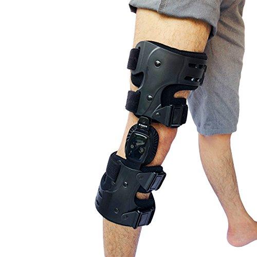 Orthomen OA Unloader Lateral Knee Brace for Osteoarthritis Unloading Support (Right-Black)