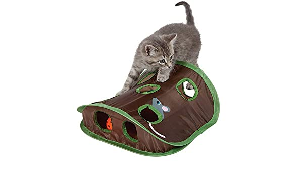 Amazon.com : Best Quality New pet cat Toys Educational Toys Mouse Hole Cats Catch Funny Ball Bells pet Supplies : Pet Supplies