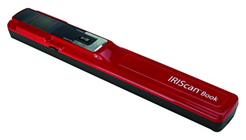 IRIScan Book 3 Color Document Image Handheld Portable Mobile Color Scanner – Red