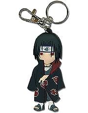 Great Eastern Entertainment Naruto Itachi PVC Keychain,Black,Small