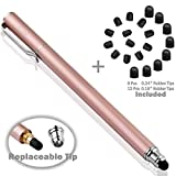 B&D Universal Capacitive Stylus Pen 2-in-1 Styli Touch Screen Pen for Apple iPad,iPhone,iPod,Tablet,Galaxy, LG&HTC (Rose Gold)