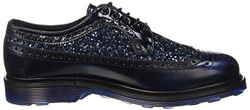 Cult Sabbath, Zapatos de Cordones Brogue para Mujer Azul