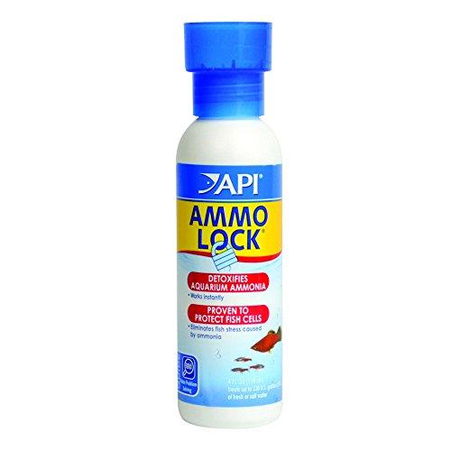 API AMMO-LOCK Freshwater and Saltwater Aquarium Ammonia Detoxifier 4-Ounce Bottle
