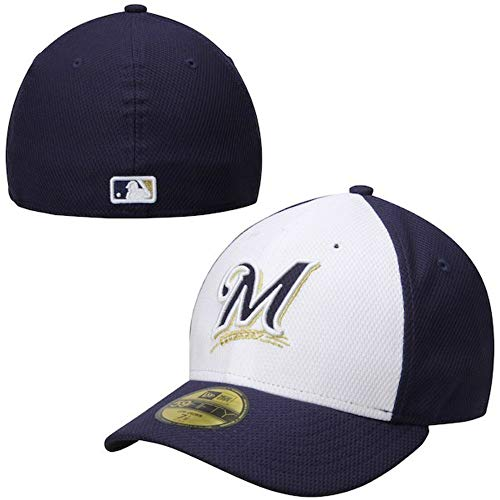 Milwaukee Brewers Diamond Era Low Crown Fitted Size 7 1/4 Hat Cap - Team Colors