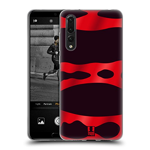 Head Case Designs Red Banded Poison Dart Frog Patterns Soft Gel Case for Huawei P20 - Shell Banded Soft