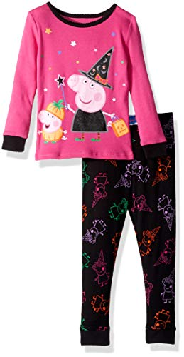 (Peppa Pig Girls' Toddler Halloween 2 Piece Cotton, Pink,)
