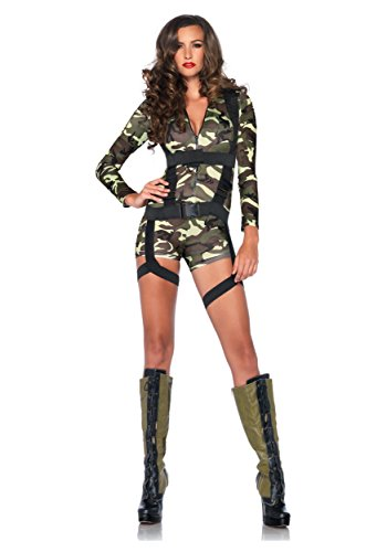 Leg Avenue Women's 2 Piece Goin' Commando, Camo, Small