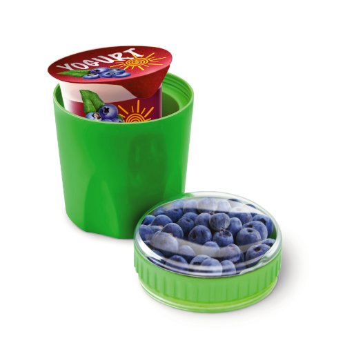 Fit & Fresh Chilled Yogurt and Snack Container, Reusable, BPA-Free, Leak-Proof, On-the-Go Dry Snack Storage, Freezable, Kids, Adults, Men, Women