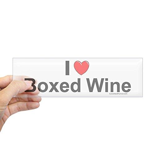 Rectangle Boxed (CafePress - Boxed Wine Sticker (Bumper) - 10