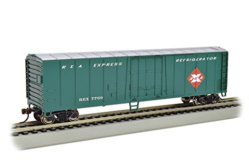 Bachmann Industries Steel Reefer Railway Express Freight Car, 50' Model Railroad Rolling Stock