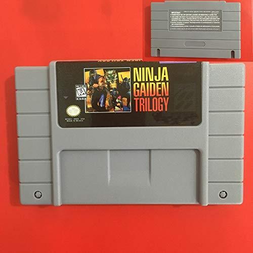 Value★Smart★Toys - Ninja Gaiden Trilogy 16 Bit NTSC Big Gray Game Card for USA Version Game Player