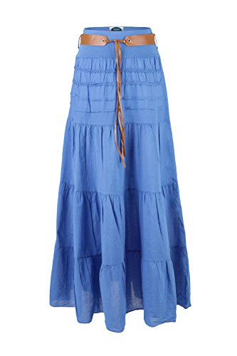 Retro 4tuality Royal Blue Bohemian Skirt Ao Long Amber nxwHfx