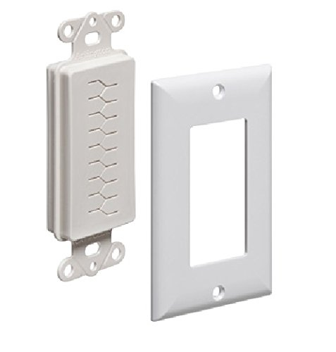 Arlington Industries CED130WP-10 Cable Entry Device with Slotted Cover and Wall Plate, 1-Gang, White, 10-Pack