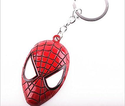 Llavero de máscara de Spiderman, color rojo: Amazon.es: Hogar
