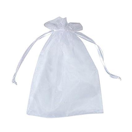 Tenflyer 50 piezas Bolsa Organza regalo de la bolsa del abrigo de la boda