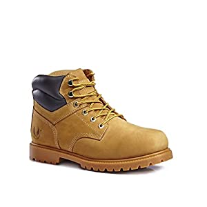 kingshow KS Men's 1366 Water Resistant Work Boots 11 D(M) US, Wheat