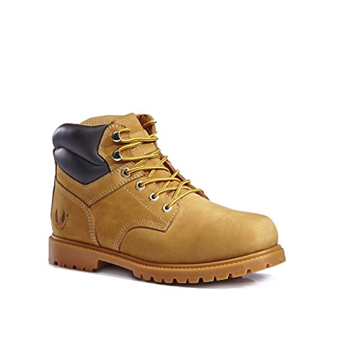 - KINGSHOW Men's 1366 Water Resistant Premium Work Boots (9 D(M) US Men's, Wheat 1366)