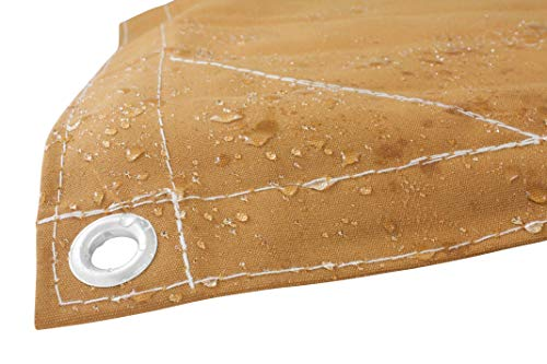 10' x 12' Tan Canvas Tarp 12oz Heavy Duty Water Resistant by  Mytee Products  (Image #3)