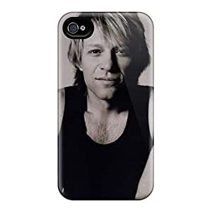 Iphone 4/4s LJv8580qSzr Customized Beautiful Bon Jovi Pictures Shock-Absorbing Cell-phone Hard Covers -MansourMurray