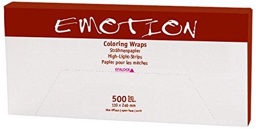 Efalock Professional Strähnenpapier Coloring Wraps, 110 x 240 mm, 2er Pack, (2x 500 Stück) (2x 500 Stück) 12136
