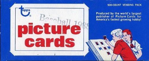 1988 Topps Baseball Cards Unopened Vending Box of 500 Cards! Look for Rookies including Tom Glavine and Hall of Famers and Superstars including Cal Ripken, Nolan Ryan, Mark McGwire, Barry (1988 Unopened Trading Card Box)