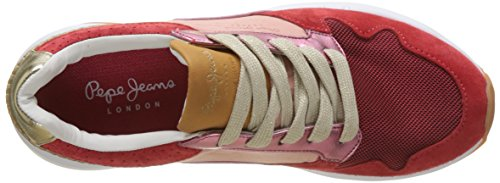 Basses Femme Rouge Itaca Foster red Pepe Jeans Sneakers 7wxqpFxI6