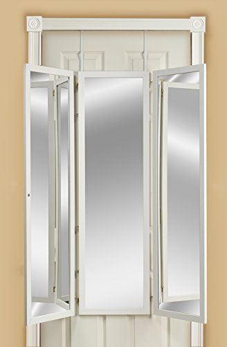 Mirrotek Triple View Dressing Mirror, White (Way Over 3 The Door Mirror)