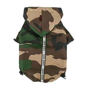 Puppia Authentic Base Jumper Raincoat, Medium, Camo