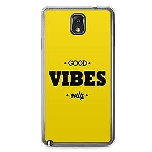 Good Vibes Samsung Note 3 Transparent Edge Case