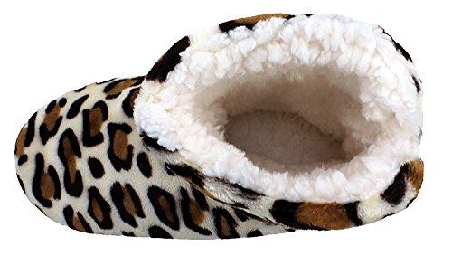 Scarpe Da Donna Di Enimay Slipper Lounge Lounge Rilassato S White Dot Muave Small / Medium