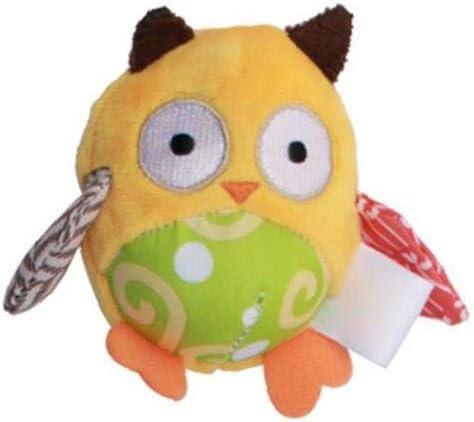 Infant Bambini Rattle Giocattoli Passeggino Hanging Campana Auto Culla Passeggino Handbells Giocattoli Lavabili Squeaker Giocattoli DellAutomobile Per I Bambini Appena Nati Yellow Owl