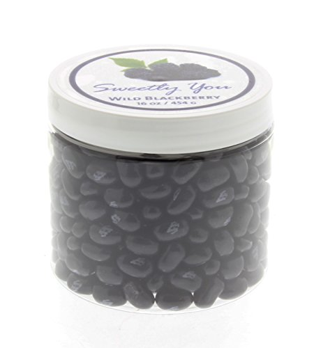 (Jelly Belly 1 LB (One Pound, 1 Pound) Bulk Jelly Beans in a resealable and reusable jar. Wild Blackberry Flavored Beans.)