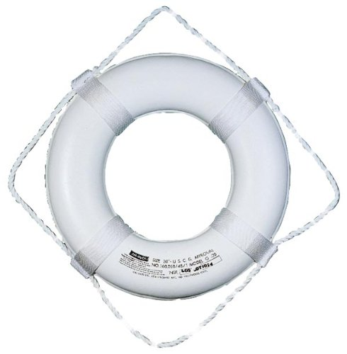 Taylor Made Products 360 20-Inch Polyurethane Foam Marine Life Ring with Grab (Marine White Ring)
