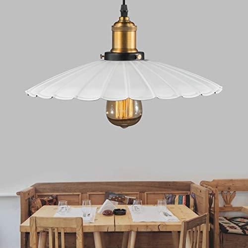 Livraison gratuite de haute qualité Indoor suspension en métal lampe rétro pays suspendus lampe abat-jour de fer avec la tête de lumière en or