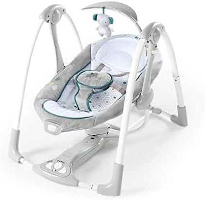 ingenuity convertme swing 2 seat battery saving portable baby swing nash