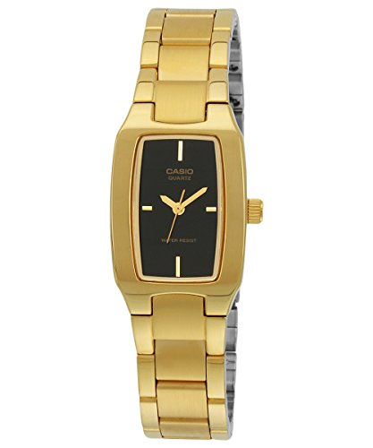 Casio Women's LTP1165N-1C Gold Gold Tone Quartz Watch with Black Dial