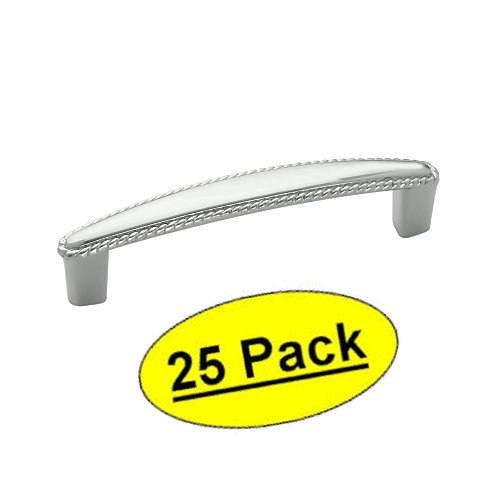 Amerock BP5300426 Allison Value Hardware Polished Chrome Cabinet Hardware Rope Handle Pull - 3-3/4