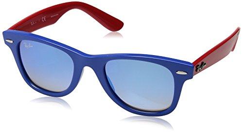 Ray-Ban Junior Kids' 0rj9066s7039b747junior Wayfarer Non-Polarized Iridium Square Sunglasses, Blue, 47 - 47mm Wayfarer Ban Ray Polarized