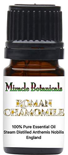 Miracle Botanicals Roman Chamomile Essential Oil - 100% Pure Anthemis Nobilis - Therapeutic Grade 5ml