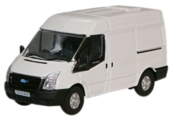 Ford Transit Van >> Oxford Diecast 76ft001 Frozen White New Ford Transit Van M Roof