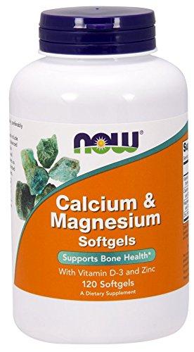 Now Foods Calcium & Magnesium plus Vitamin D and Zinc - 120 softgels (Pack of 2)