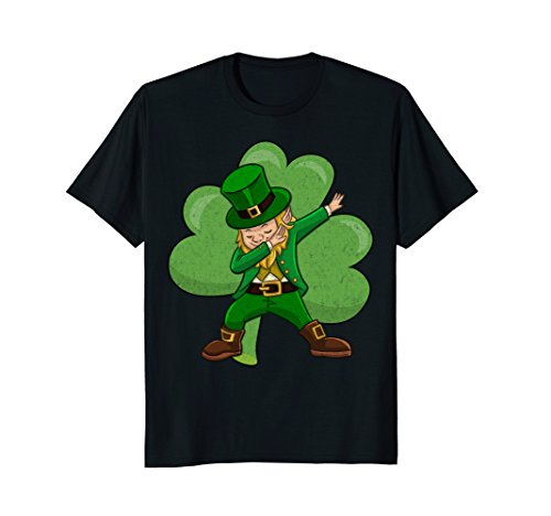 Funny Dabbing Leprechaun Shirt - St Patricks Day Shirt -