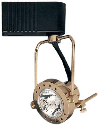 PLC Lighting TR611 PB Track Lighting 1 Light Sport Collection, Polished Brass Finish