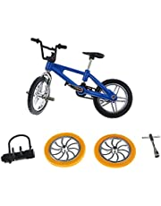 Finger Mountain Bike BMX Fixie Bicycle Creative Toy Gift- Blue