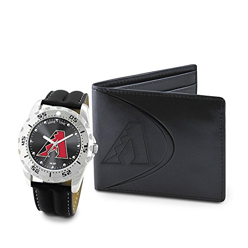 Game Time GTW-MLB-WWS-ARI Arizona Diamondbacks MLB Mens Watch & Wallet Set