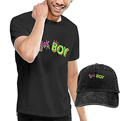 OYQGEJGPJA The Chainsmokers Sick Boy Men's T-Shirt and Hats Black