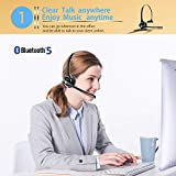 Golvery Wireless On-Ear Office Bluetooth Headset