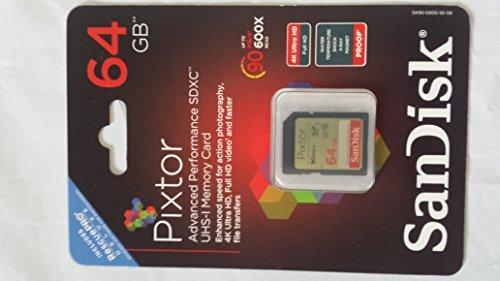 Sandisk Pixtor Advance sdxc UHS-1 memory card for 4K UHD by SanDisk